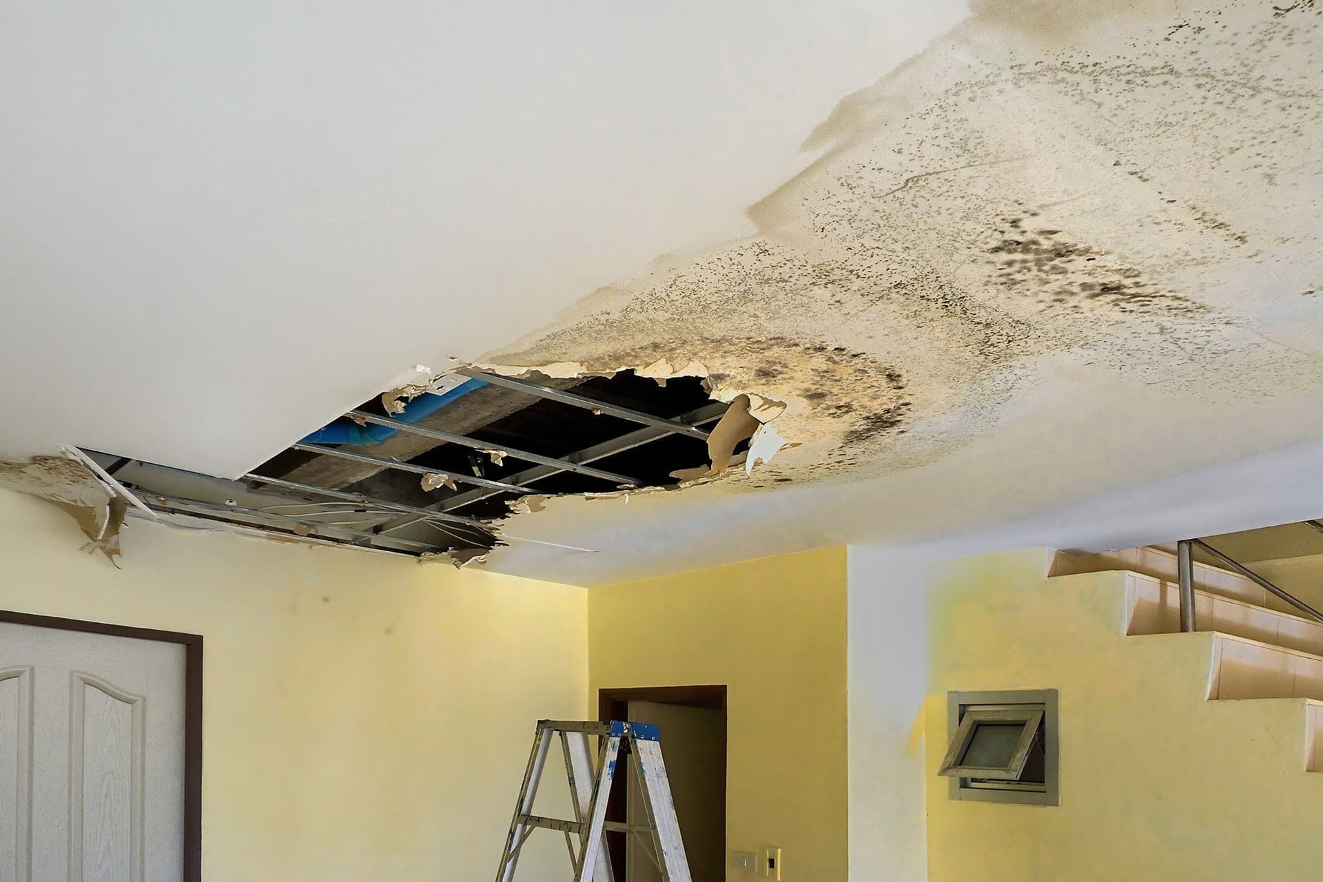 Water Damaged Ceilings Olathe KS Ceiling Leak Repair