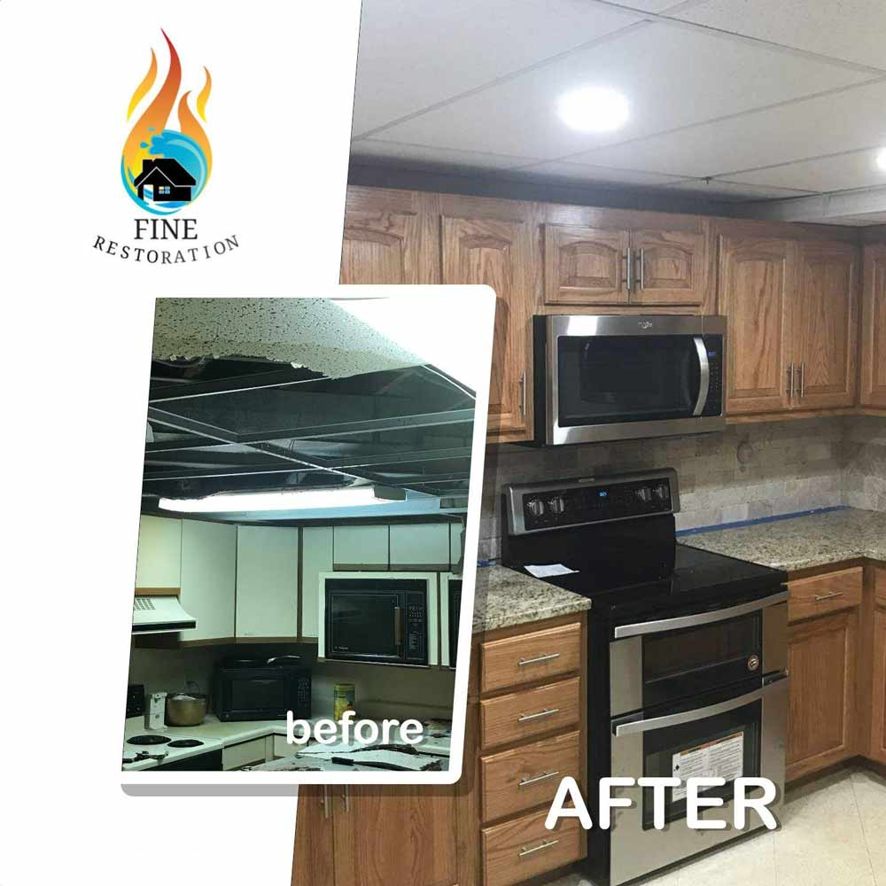 Disaster Restoration in Prairie Village KS Before & After Photo